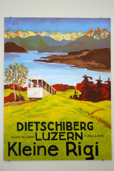 Painting of a travel poster