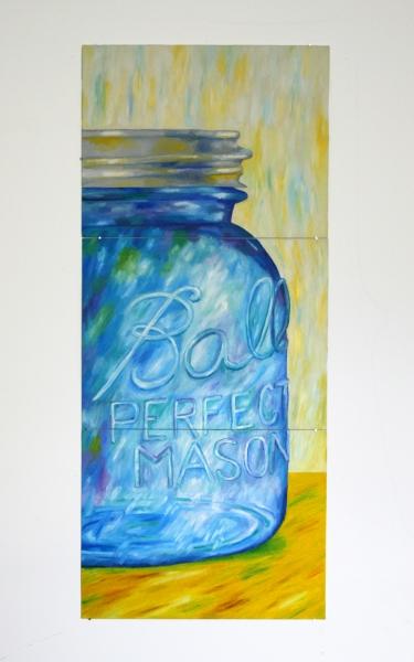 "18"" x 42"" oil on canvas board"
