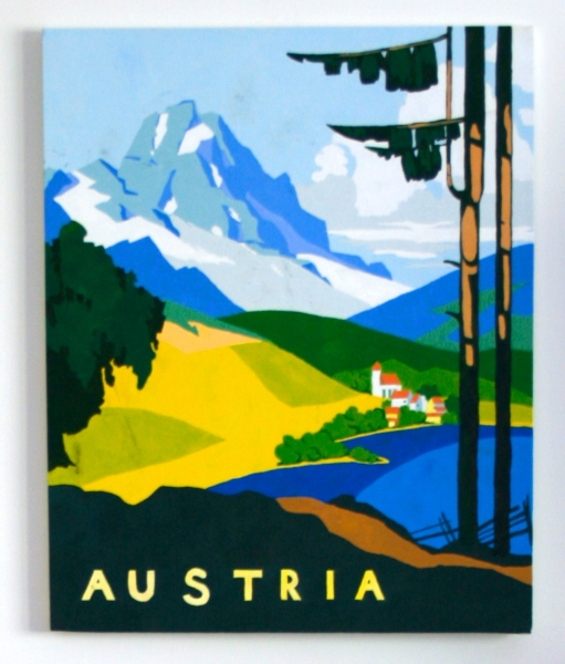Painting of a travel poster (II)