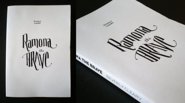 Hand-lettered book cover